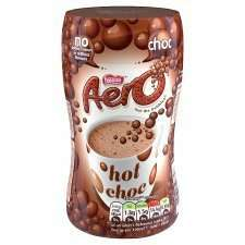 Aero Instant Chocolate Drink 288G half price £1.19 from 16th @ tesco