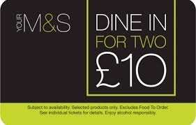 M&S Dine in for £10 is back with new Menu Choices 16th to 22nd March
