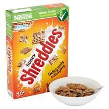Nestle Honey Shreddies Cereal 500g, reduced from £2.49 to £1.24 at Tesco