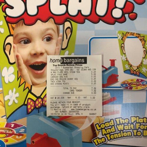 Splat - pie face replica £5.99 @ Home Bargains