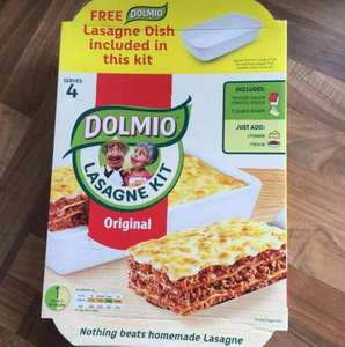 Dolmio Lasagne kit - with free oven dish £4 @ Asda