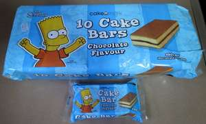 The Simpsons Cake Bars 10 pack 29p @ Home Bargains