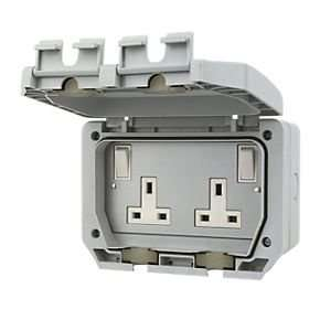 LAP 13A Outdoor weatherproof IP66 switched double socket £9.99 @ Screwfix C&C