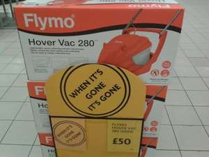 Flymo Hover Vac 280 1300w lawnmower £50 @ Morrisons