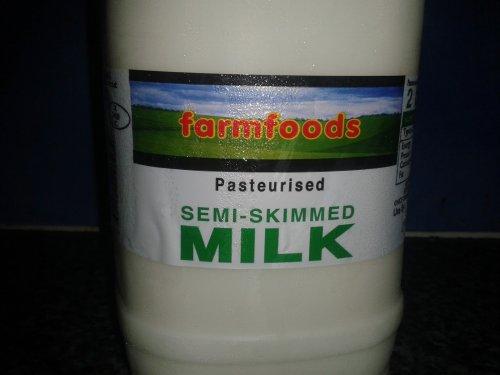 6 liltres of BRITISH milk £2 (18.9p a pint) farmfoods.3x 2litre 4 £2