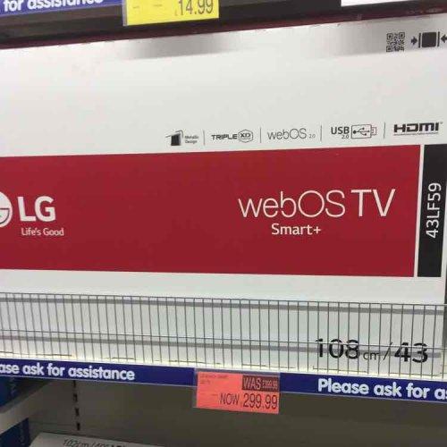 43in LG 43LF59 smart tv £299.99 instore @ B&M