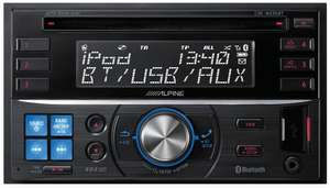 Alpine CDE-W235BT Double Din car stereo - £110 @ Halfords