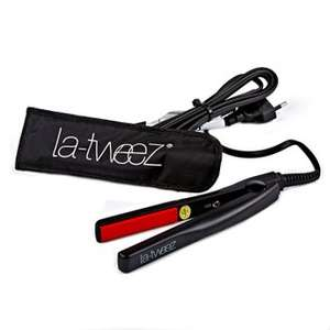 LA-TWEEZ TRAVEL MINI HAIR STRAIGHTENERS WITH TRAVEL POUCH £10 @ Hogiesonline