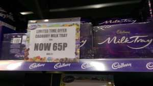 Cadburys Milk Tray 95g for 65p @ Cadbury Outlet Hatfield (maybe National?)