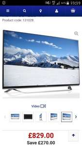 "LG 55UF850V Smart 3D Ultra HD 4k 55"" LED TV £829 @ Currys"