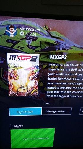 MXGP2 Xbox One £214.99 @ XBOX