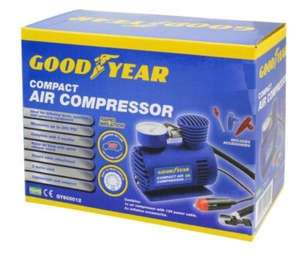 GOODYEAR Mini Air Compressor Compact 3m cord Lightweight Light Sporting Camping £9.25 @ Think Price / Ebay