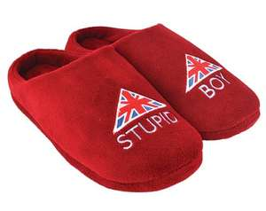 "Dad's Army ""Stupid Boy"" slippers. Only Medium (Size 6-8). Free Delivery. £5.69 @ BBC Shop"