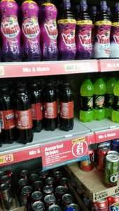 50p bottles of Dr Pepper & various others