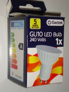 GU10 LED Bulb 5Watts 330 lumens energy SAVE -  £1 @ Family Bargains instore
