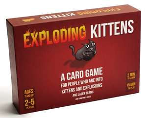 Exploding Kittens Card Game £10.40  (Prime) / £14.39 (non Prime)  Amazon Deal of the Day
