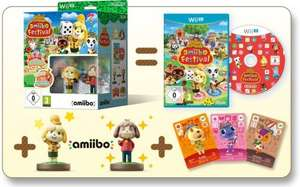 Animal Crossing amiibo Festival Wii U game + 2 amiibo + 3 amiibo cards at Amazon.de for £15.51 delivered
