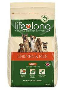 Lifelong Dog Food, Chicken and Rice for Adult Dogs, 15 kg £23.20 @ Amazon