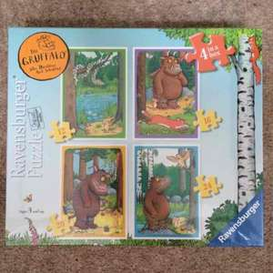 Gruffalo / Room on the Broom / Stick Man 4 in a box Ravensburger Jigsaw - £3.75 at Sainsburys