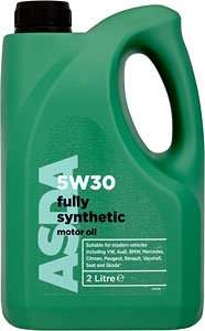ASDA 5w30 Fully Synthetic Motor Oil 5L £15 In store