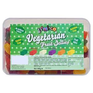 Pimlico Vegetarian Fizzy Fruit Flavoured Jelly Sweets 450G £1.25 @ Tesco