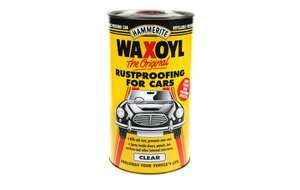 Hammerite Waxoyl 2.5l  clear or black  £10  @ Halfords c&c