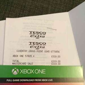 Xbox one Kinnect bundle with 3 games £319 instore @ Tesco