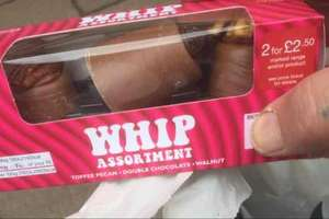 Walnut Whip assortment pack of 3 only 50p at M&S