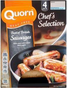 Quorn Best of British sausages, two 4-packs for £2.50 @ Waitrose w/MyWaitrose card