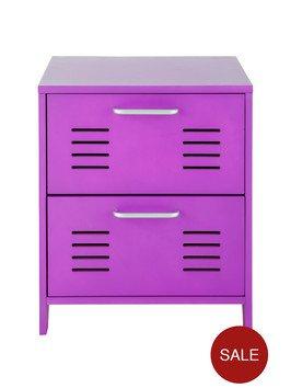 Kidspace Varsity Locker Bedside Table Black or Purple (Was £79) Now £39 at Very
