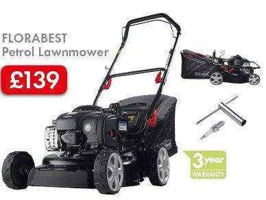 FLORABEST Petrol Lawnmower with 3yr warranty £139  @ Lidl