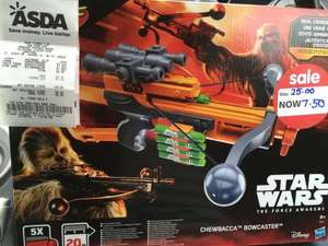 Asda Dartford - Star Wars Nerf Chewbacca Bowcaster on clearance £7.50