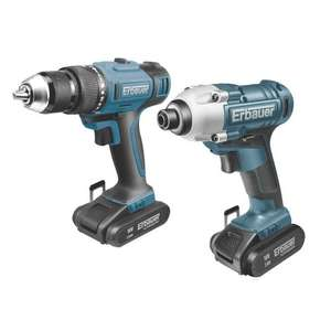 Erbauer ER1619KIT 18V 2.0Ah Cordless Twin Pack Combi Drill & Impact Driver £111.99 delivered @ Screwfix