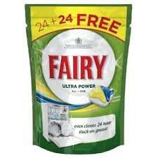 Home Bargains Fairy Ultra Power dishwasher tabs 48 for £4.99 instore.