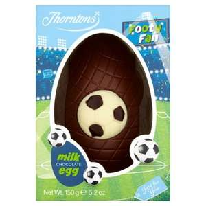 Thorntons Milk Chocolate Football Egg / Butterfly Egg 2 for £2.00 / Large Cadbury's,/Malteasers/Mars Easter eggs 2 for £5.00 @ One Stop