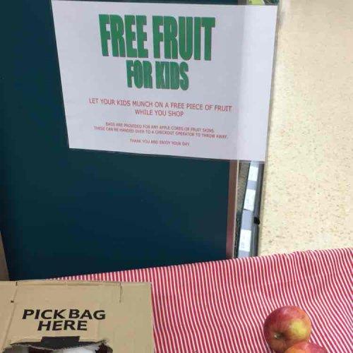 Tesco - free fruit for kids whilst shopping