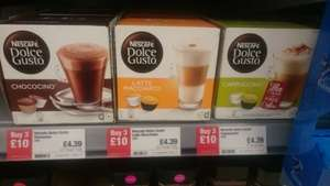 Nescafe Dolce Gusto pods 3 for £10 at co-op