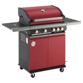 MasterChef 4 Burner Gas BBQ with Side Burner, Red £180 at Tesco Direct