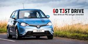 test drive mg6 car and get a freebie