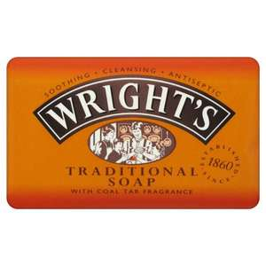 Wrights Traditional Soap Coal Tar 4 pack (500g) ONLY £1.75 @ wilkos
