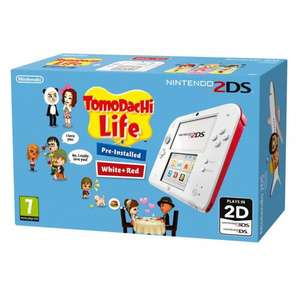 Tomodachi Life (pre-installed) + Nintendo 2DS with FREE Mario Kart 7 (Download), £79.99 + Free Click Collect @ Smythstoys