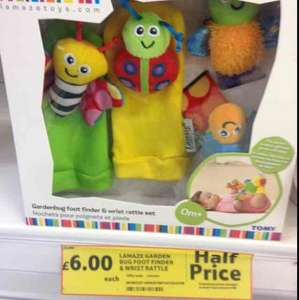 Lamaze Garden Bug Foot Finder & Wrist Rattle £6 @ Tesco instore