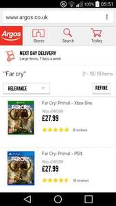 Far Cry Primal £26.99 C&C @ Argos