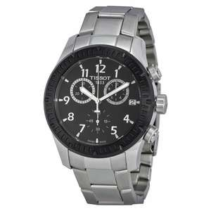 Tissot V8 men's black dial two colour bracelet watch £215 @ Ernest Jones