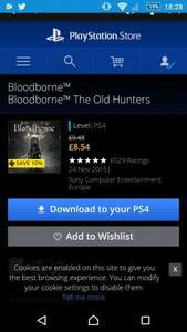 bloodborne the old hunters dlc £9.49 @ PSN
