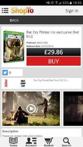 far cry primal xbox one/ps4 £29.86 at Shopto.net