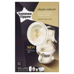 tommee tippee manual breast pump £11 @ tesco instore
