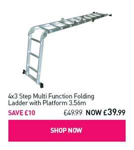 4x3 Step Multi Function Folding Ladder with Platform 3.56m - £39.99 @ Maplin