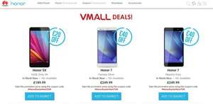 Honor 5x (£20 off) or Honor 7 (£40 off) or Honor 7 with Free VR Glasses (£229.99) @ vMall