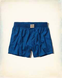 Mens Seagull Print Boxers All Sizes + Free P&P £1.99 @ Hollister